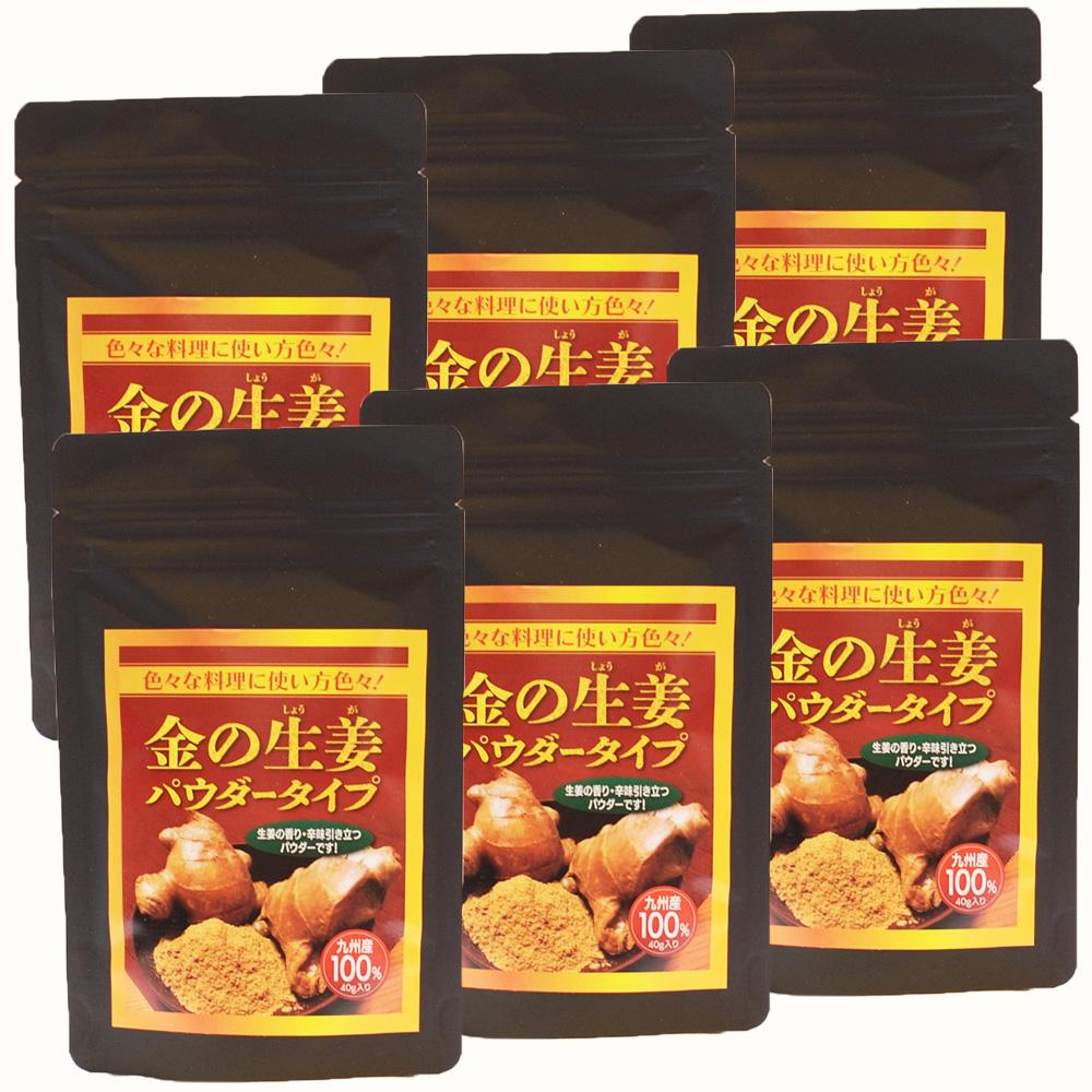 金の生姜パウダータイプ 粉末(40g入×6袋)